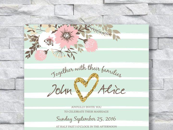Tmx Light Green Strips 51 644268 158533617817790 Altoona, PA wedding invitation