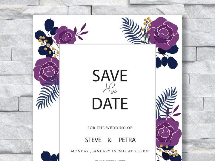 Tmx Purple Flowers 51 644268 158533618444699 Altoona, PA wedding invitation
