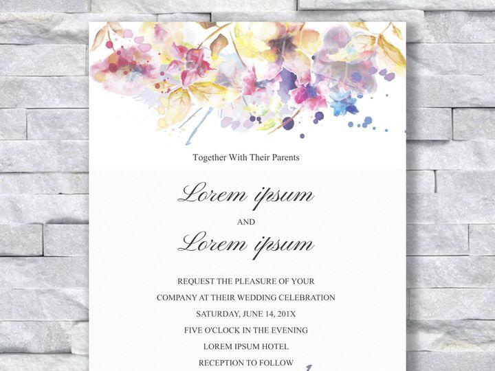 Tmx Watercolor Flowers 2 Tall Invite 51 644268 158533618971525 Altoona, PA wedding invitation