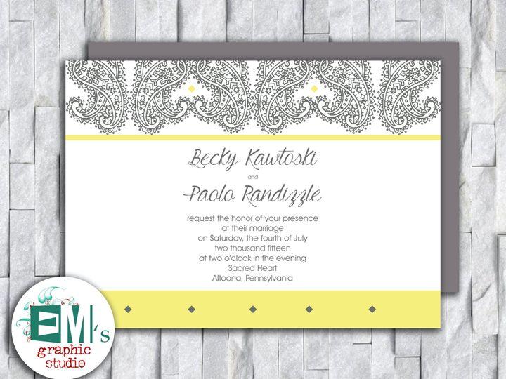 Tmx White And Yellow Wedding Invitation 51 644268 158533618760678 Altoona, PA wedding invitation