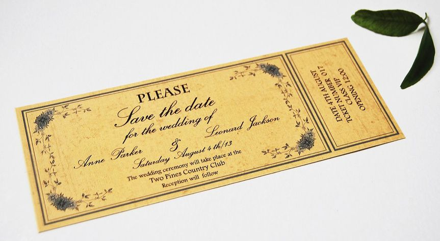 Early 20th century invitation ticket  Original vintage style wedding invitation. Designed by Menta...