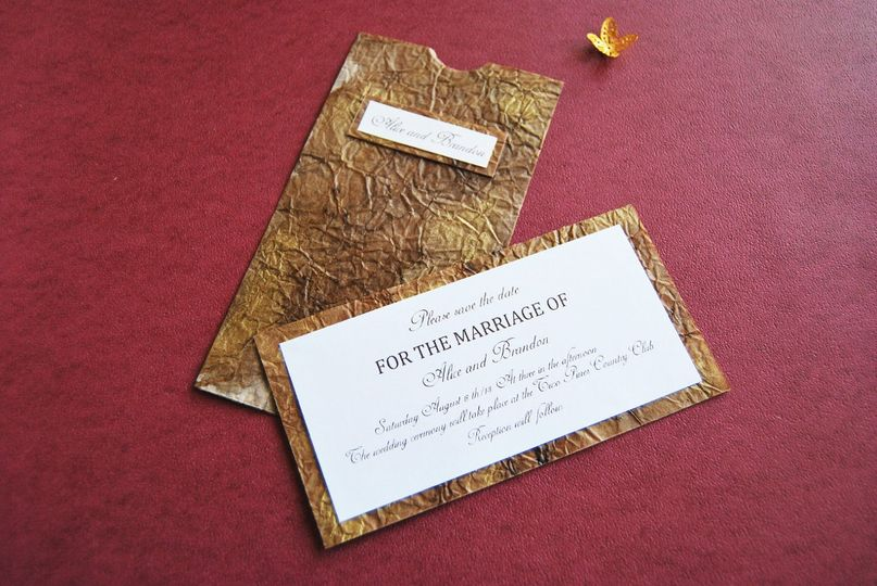 Aged paper invitation  Invitation made by the artist Sandra Márquez. It's made by using the aged...