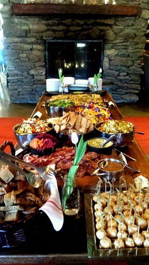 Bufffet table