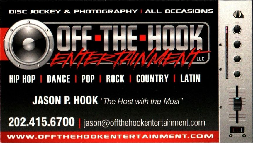 Off the hook entertainment llc dj edgewater md weddingwire 800x800 1465588924085 2012 business card reheart Image collections