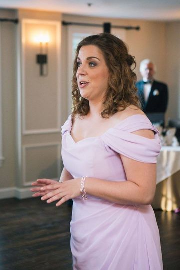 Liana performing for wedding ceremony in boston