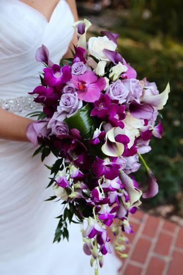 rominas close of bouquet
