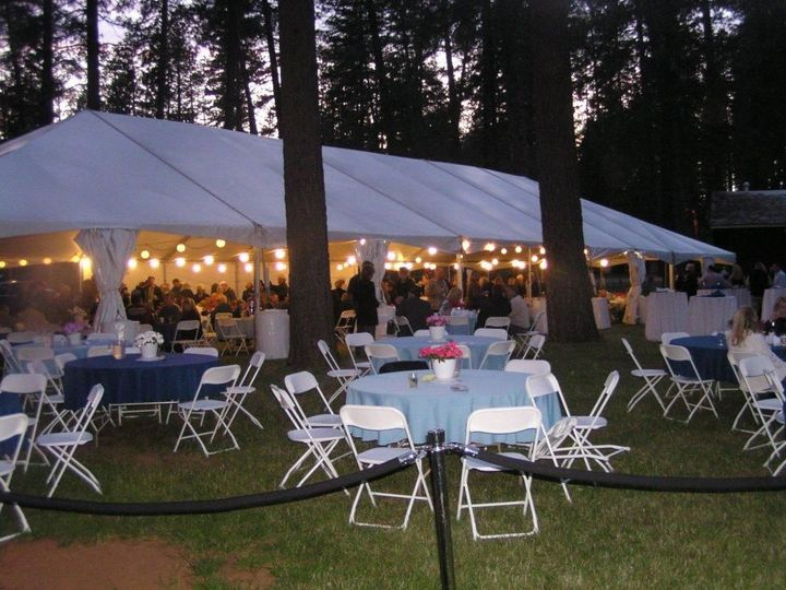 Outdoor Wedding Reception on the grass