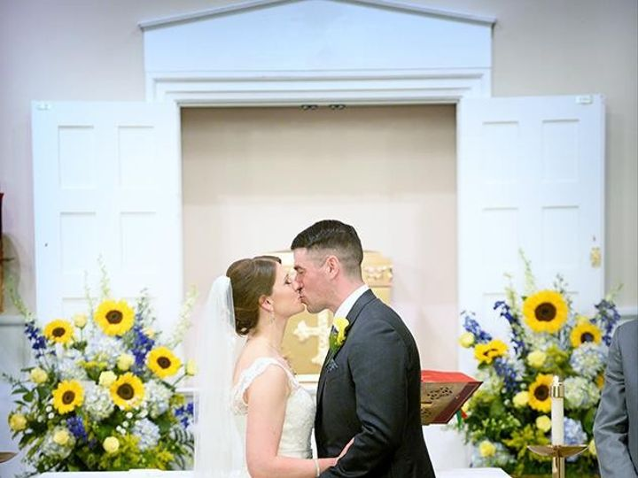 Tmx 1440121694123 Bride And Groom Share A Kiss With Altars Alexandria, VA wedding florist