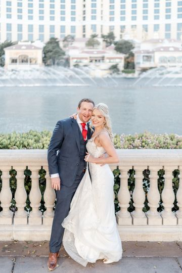 Bellagio Fountains Wedding