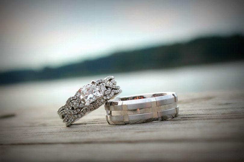 Glistening rings