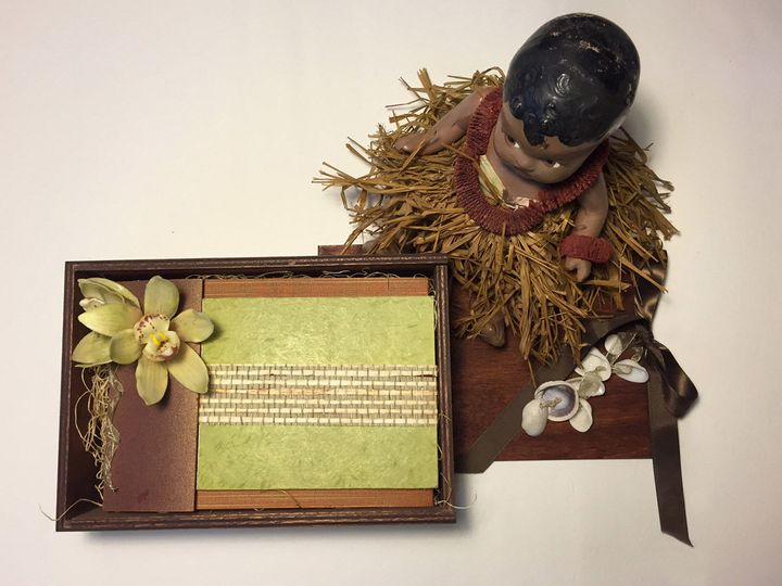 Aloha Wedding: Captures the beauty of Hawai'i with a handmade-paper invitation wrapped in a woven...