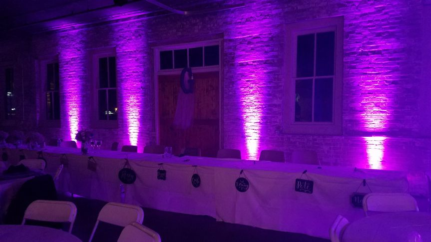 Head-Table Uplighting