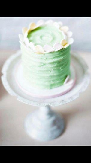 Wedding cake: green