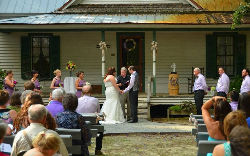 Real wedding on site