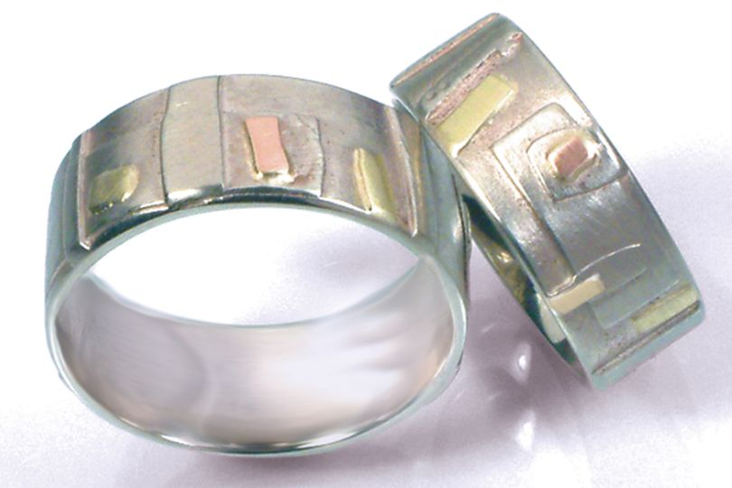 The Echo Band.  14k and 18k gold custom handmade wedding bands available in yellow or white gold,...