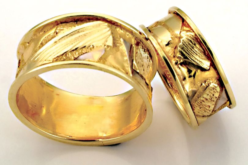 The Fusion Band.  Fused 18k and 22k gold custom handmade wedding bands.