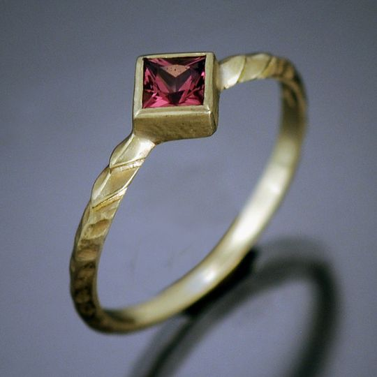 18k gold Stack Rings featuring an assortment of faceted and cabochon gemstones. Priced individually....