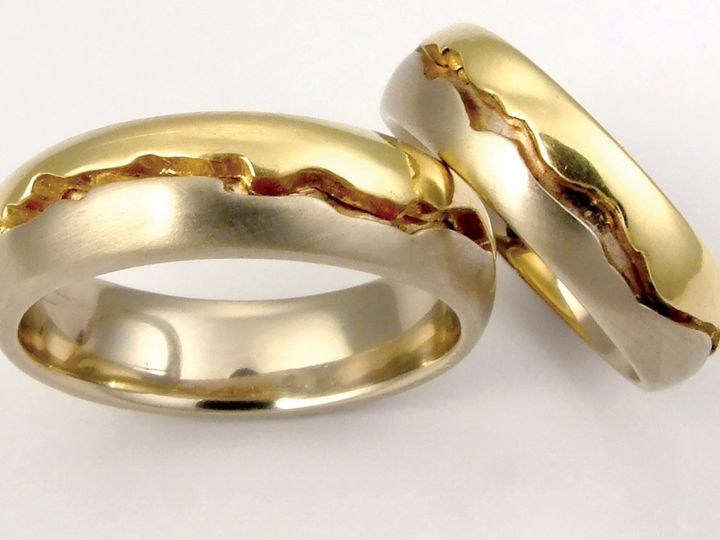 Tmx 1452807846776 14k White And 18k Yellow Gold Custom Wedding Bands Asheville wedding jewelry