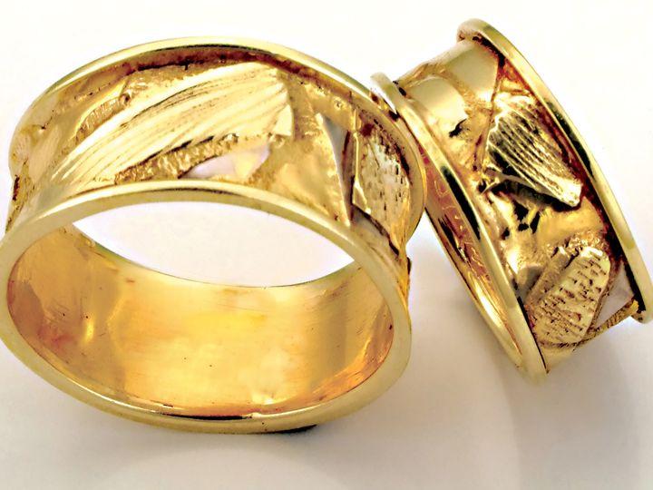 Tmx 1452807918803 Fusion Bands Gold Lg Asheville wedding jewelry