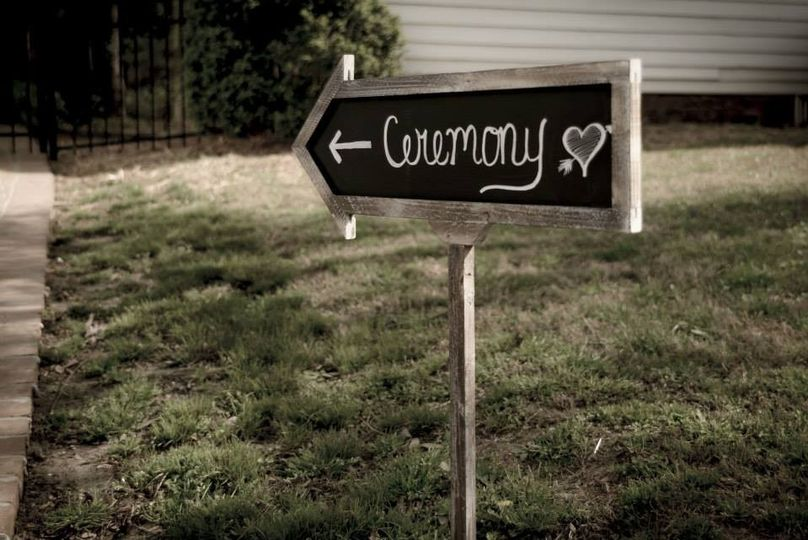 Ceremony direction sign
