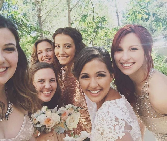 A happy bridal party