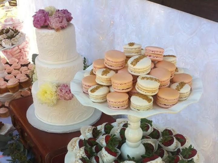 Tmx 1478036789661 Pink Bakersfield, CA wedding cake