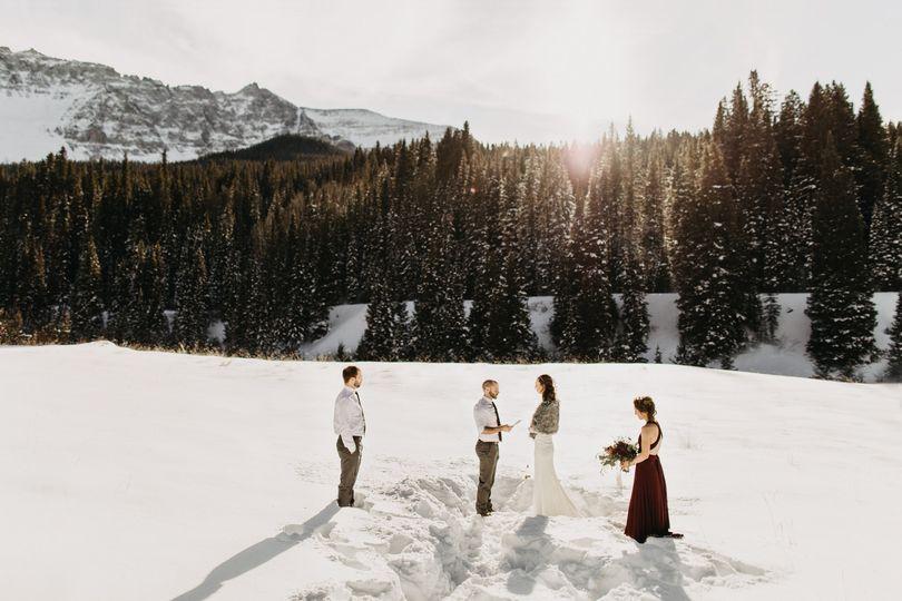 Telluride winter elopement