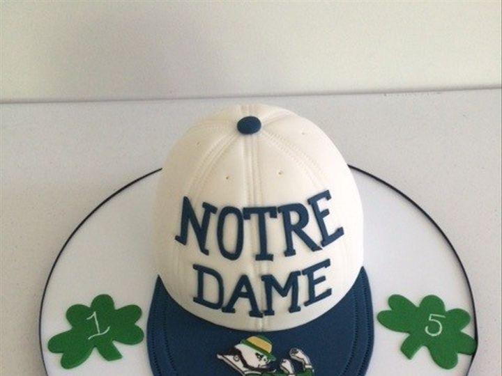 Tmx 1450331627642 Andrew Notre Dame Cap Cake Washington, District Of Columbia wedding cake