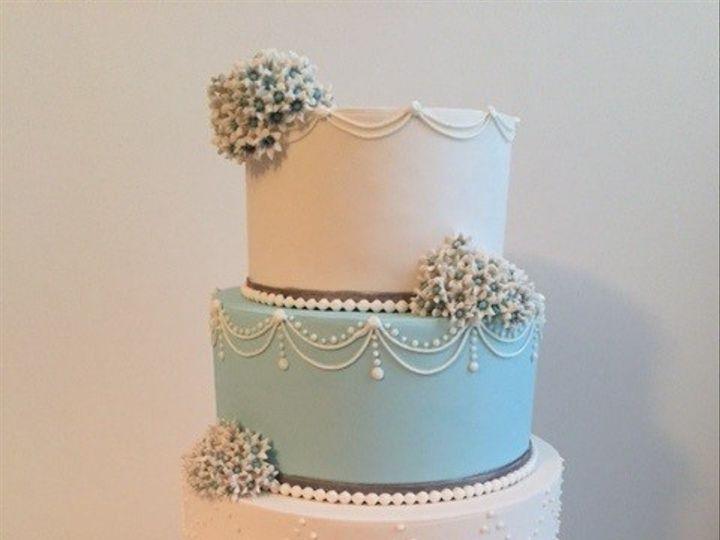 Tmx 1464833069551 Blue Flower Wedding Cake Display Washington, District Of Columbia wedding cake