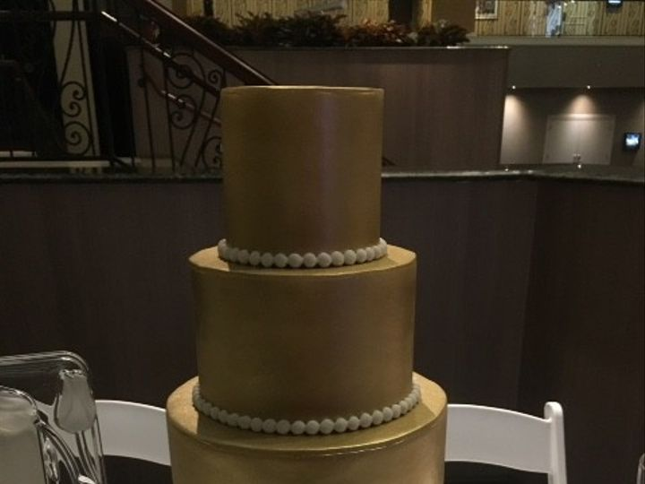 Tmx 1494420473475 Abc Wedding Showcase Metallic Ruffle Cake Washington, District Of Columbia wedding cake