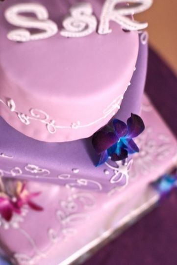 Pink and purple cake - Delights by Lisa