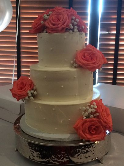 Rose wedding cake - Delights by Lisa