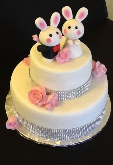 Bunny newlywed cake - Delights by Lisa