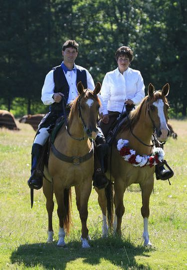 Couple on a horse