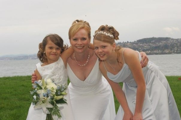 Bride and kids