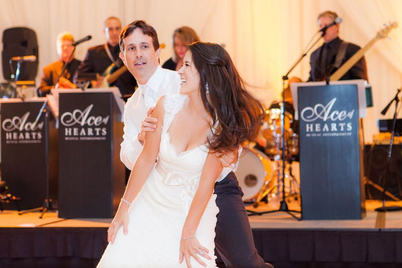 Ace Of Hearts Variety Band at the Riviera Country Club. What a fun couple!  Photo by Figlewicz...