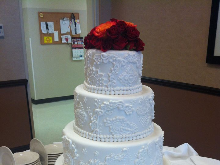 Tmx 1393713299115 4tierontre Lakeland wedding cake