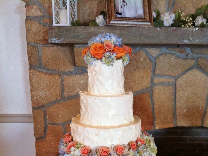 Tmx 1393713371943 Orangeandblueflowers4tie Lakeland wedding cake
