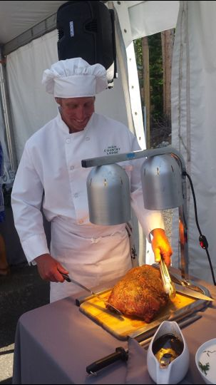 Carving the meat