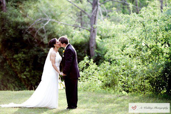 A beautiful summer park wedding