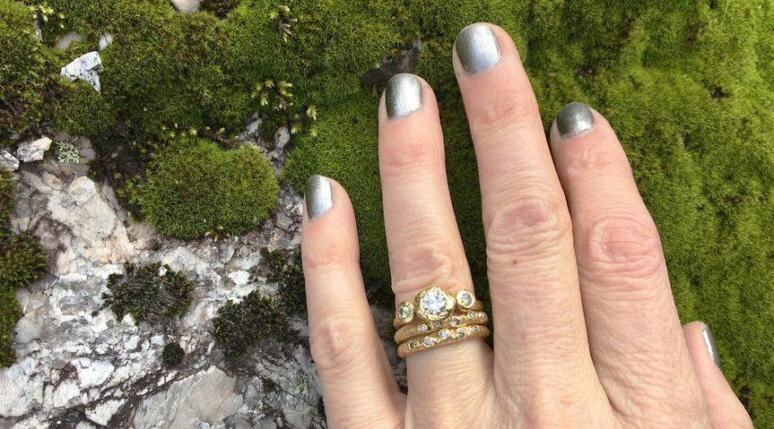 tatianas dream engagement ring woodsprite stacking