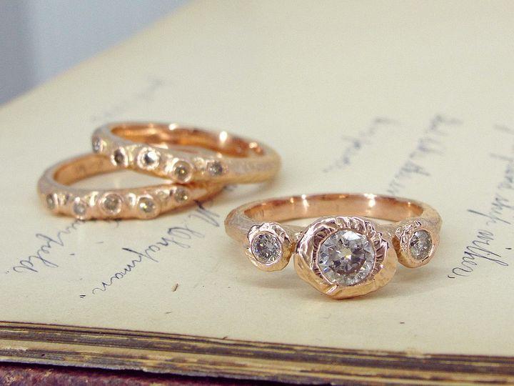 Tmx 1495473988534 Tatianas Dream Woodsprite Pair Rose Gold Diamonds  Brunswick wedding jewelry