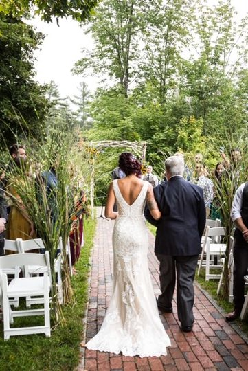 Down the aisle with Dad