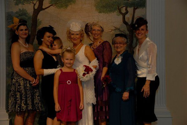 Whole wedding party, including Bride, Hair styled, and makeup by Liz