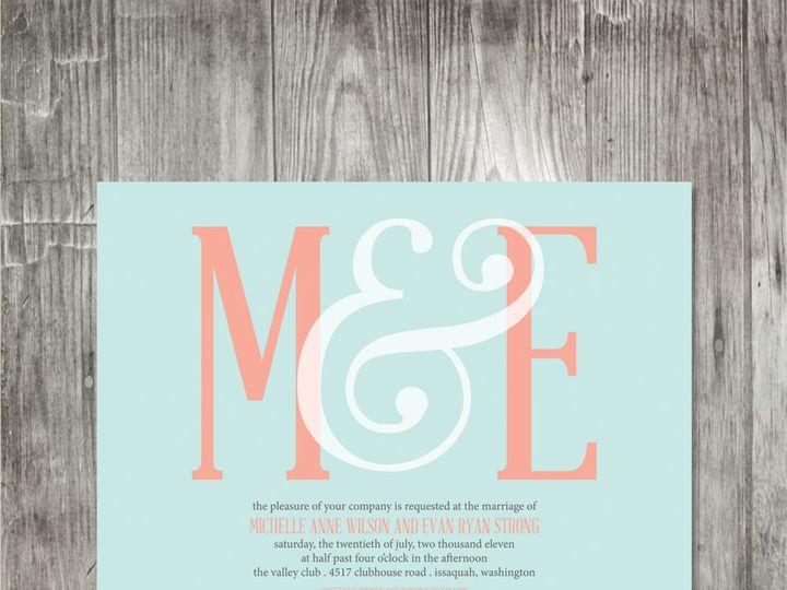 Tmx 1416342212091 Ampersandmonogramweddinginvitationaquacoral Portland wedding invitation