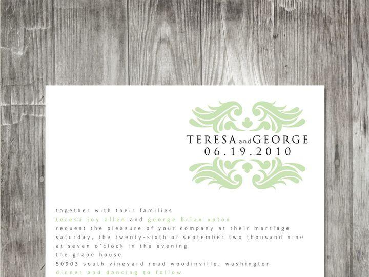 Tmx 1416342344319 Baroquemonogramweddinginvitation Portland wedding invitation
