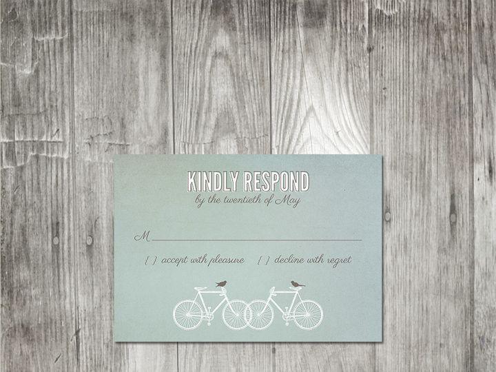 Tmx 1416342608896 Bicyclesweddingresponse Portland wedding invitation