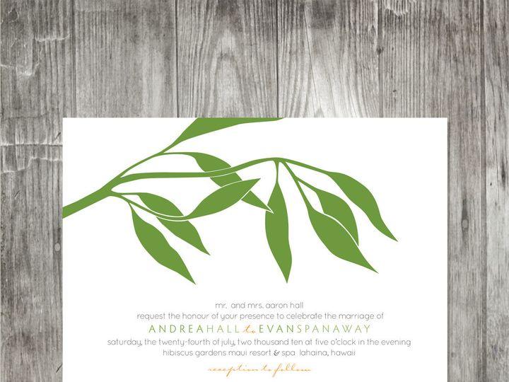 Tmx 1416343114198 Eucalyptusbranchinvitation Portland wedding invitation