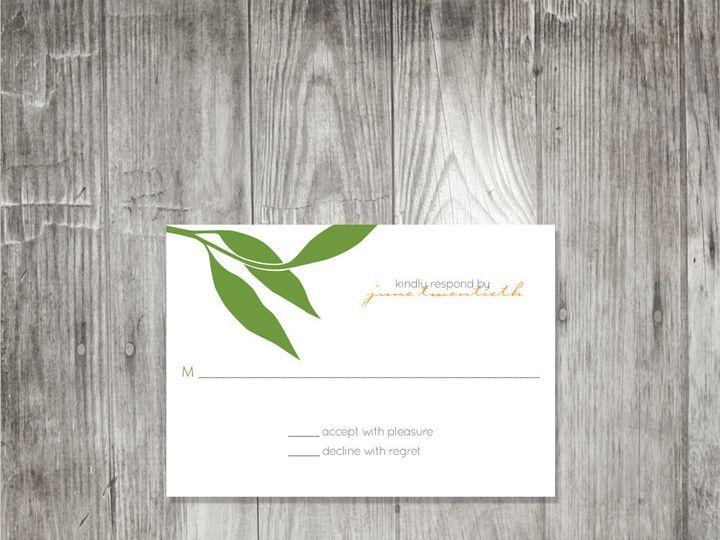 Tmx 1416343121156 Eucalyptusbranchresponse Portland wedding invitation