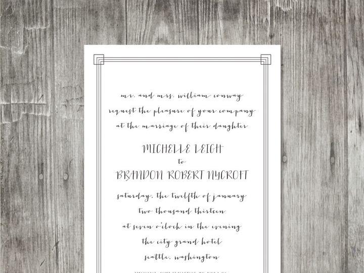 Tmx 1416343145113 Calligraphyframeweddinginviteplain Portland wedding invitation